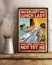 grumpy lunch lady poster  11x17 Poster lifestyle-poster-3
