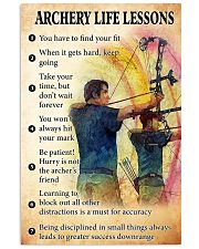 archery lessons 11x17 Poster front
