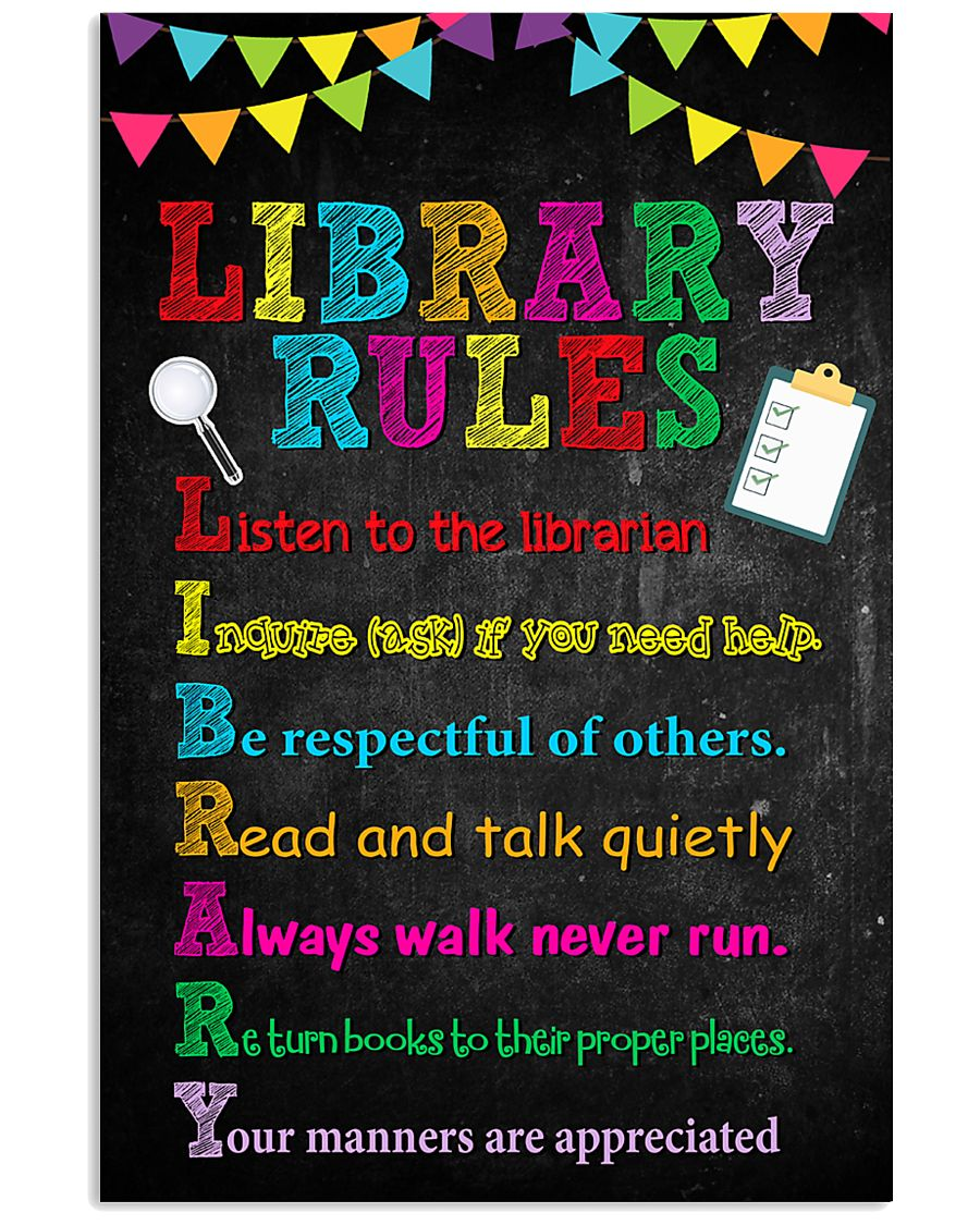 library-rudes 11x17 Poster