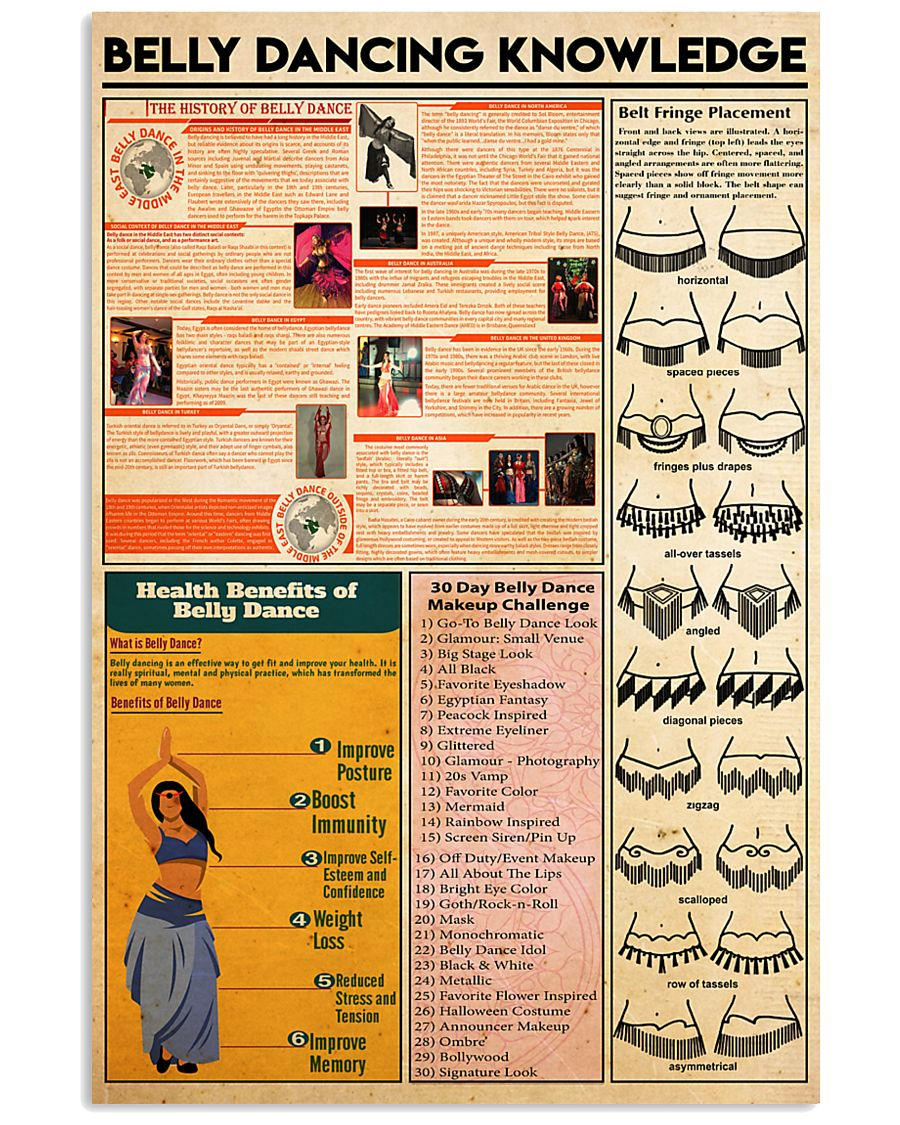 Belly dancing knowledge 11x17 Poster