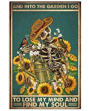 garden skeleton find my soul poster 11x17 Poster front