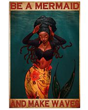black mermaid make waves 11x17 Poster front