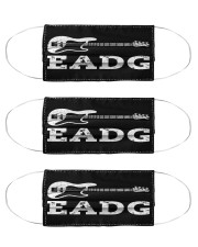 Bass Guitar EADG mas Cloth Face Mask - 3 Pack front