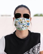 scotland map mas  Cloth Face Mask - 3 Pack aos-face-mask-lifestyle-02