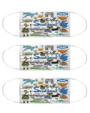 scotland map mas  Cloth Face Mask - 3 Pack front