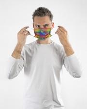 lgbt unicorn I am brave I am Cloth Face Mask - 3 Pack aos-face-mask-lifestyle-08