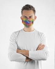 lgbt unicorn I am brave I am Cloth Face Mask - 3 Pack aos-face-mask-lifestyle-14