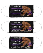bigfoot fibromyalgi-I-don't-have the energy mas Cloth Face Mask - 3 Pack front