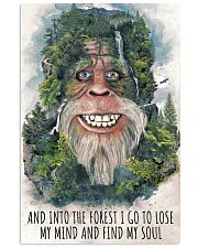 bigfoot forest I go 11x17 Poster front