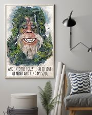 bigfoot forest I go 11x17 Poster lifestyle-poster-1