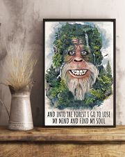 bigfoot forest I go 11x17 Poster lifestyle-poster-3