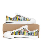 shoe plate english teacher  Men's Low Top White Shoes inside-left-outside-left