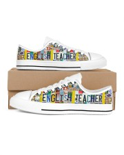 shoe plate english teacher  Men's Low Top White Shoes inside-right-outside-right