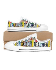 shoe plate english teacher  Women's Low Top White Shoes thumbnail