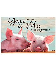 pig you and me 17x11 Poster front