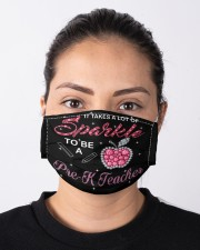 pre-k teacher sparkle mas  Cloth Face Mask - 3 Pack aos-face-mask-lifestyle-01