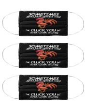 cluck you mas Cloth Face Mask - 3 Pack front