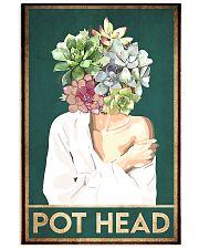 garden pot head  11x17 Poster front