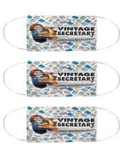 Secretary vintage mas  Cloth Face Mask - 3 Pack front
