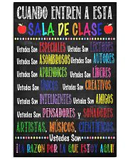 spanish classroom poster  11x17 Poster front