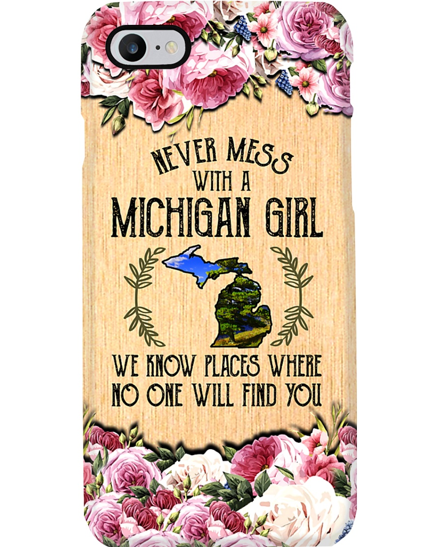 michigan girl don't mess phonecase Phone Case