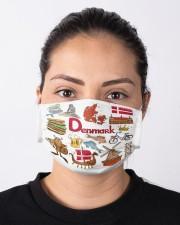 denmark map mas  Cloth Face Mask - 3 Pack aos-face-mask-lifestyle-01