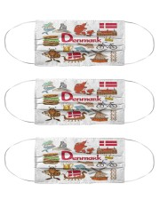 denmark map mas  Cloth Face Mask - 3 Pack front