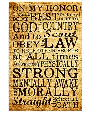 scout oath poster 11x17 Poster front