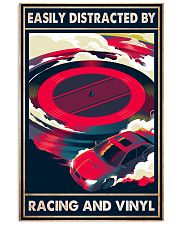 vinyl racing easily distracted by pt mttn-pml 11x17 Poster front