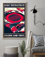 vinyl racing easily distracted by pt mttn-pml 11x17 Poster lifestyle-poster-1