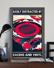 vinyl racing easily distracted by pt mttn-pml 11x17 Poster lifestyle-poster-2