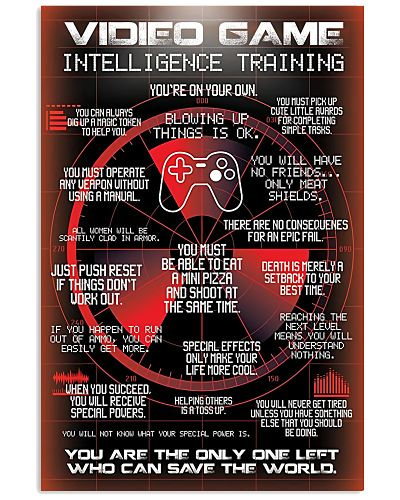 Video Intelligence Training Gaming Poster