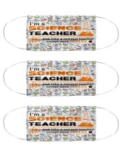 science teacher cooler mas Cloth Face Mask - 3 Pack front