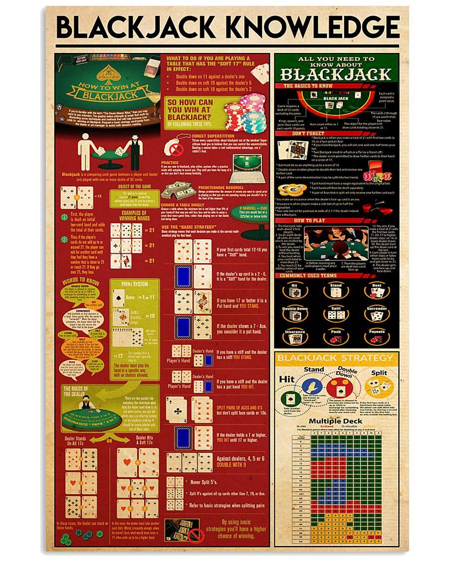 Blackjack knowledge 11x17 Poster