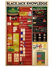 Blackjack knowledge 11x17 Poster front