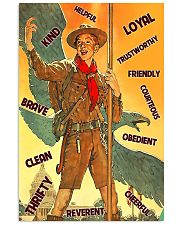 boy scout eagle text  11x17 Poster front