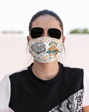 Lunch lady my heart is full mas Cloth Face Mask - 3 Pack aos-face-mask-lifestyle-02