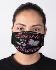 librarian sparkle mas  Cloth Face Mask - 3 Pack aos-face-mask-lifestyle-01