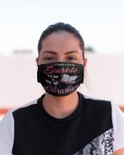 librarian sparkle mas  Cloth Face Mask - 3 Pack aos-face-mask-lifestyle-03