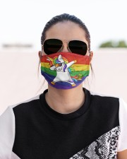 unicorn lgbt mas  Cloth Face Mask - 3 Pack aos-face-mask-lifestyle-02