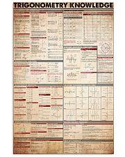 Trigonometry-knowledge 11x17 Poster front