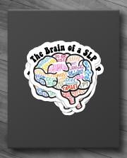 speech therapist sticker slp brain sticker Sticker - 6 pack (Vertical) aos-sticker-6-pack-vertical-lifestyle-front-10
