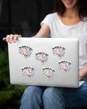 speech therapist sticker slp brain sticker Sticker - 6 pack (Vertical) aos-sticker-6-pack-vertical-lifestyle-front-13