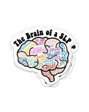 speech therapist sticker slp brain sticker Sticker - 6 pack (Vertical) front