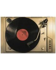 "vinyl turntable mat phq-nth Doormat 22.5"" x 15""  front"