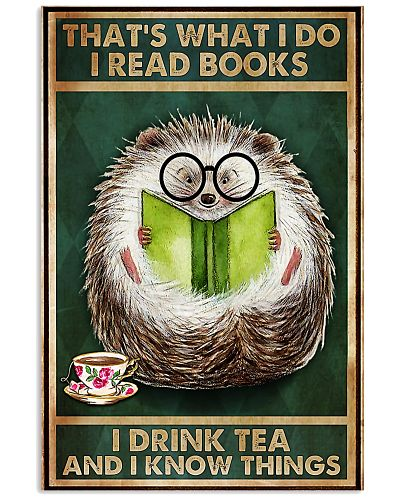 hedgehog Read Books And I Know Things