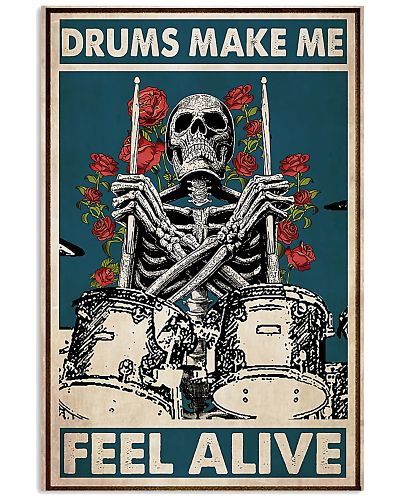 Skeleton Drummer Feel Alive poster