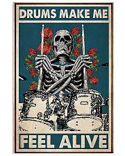Skeleton Drummer Feel Alive poster 11x17 Poster front
