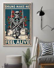 Skeleton Drummer Feel Alive poster 11x17 Poster lifestyle-poster-1