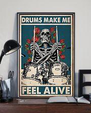 Skeleton Drummer Feel Alive poster 11x17 Poster lifestyle-poster-2